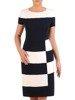 Sukienka koktajlowa, modna kreacja w wyszczuplającym wzorze 26277
