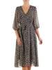 Sukienka kopertowa, zwiewna kreacja w groszki 26878