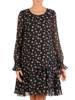 Sukienka o trapezowym kroju, kreacja z falbanami 28076