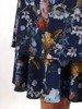 Sukienka o trapezowym kroju, kreacja z kwiatowym nadrukiem 24580