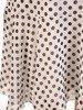 Sukienka w grochy, zwiewna kreacja z szyfonu 26071