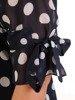 Sukienka w grochy, zwiewna kreacja z szyfonu 26229