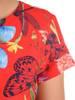 Sukienka w kwiaty, letnia rozkloszowana kreacja z tkaniny 29666