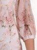 Sukienka w kwiaty, prosta kreacja w pastelowych kolorach 25783