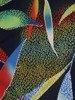 Sukienka w kwiaty, prosta kreacja z dzianiny 26658