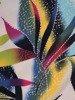 Sukienka w kwiaty, prosta kreacja z dzianiny 26659