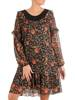 Sukienka wyjściowa, luźna kreacja z ozdobnym dekoltem 27363