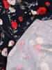 Sukienka z dzianiny, rozkloszowana kreacja w kwiaty 30129