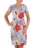 Sukienka z tkaniny, prosta kreacja w oryginalnym wzorze 26496