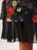 Szyfonowa sukienka o trapezowym kroju, kreacja z oryginalnym nadrukiem 23991