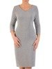 Wieczorowa sukienka, modna kreacja z połyskującej dzianiny 24299