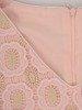 Wizytowa wyszczuplająca sukienka z koronkowym topem 24751