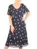 Wyjściowa sukienka z szyfonu, zwiewna kreacja z falbanami 31062