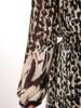 Wyszczuplająca sukienka maxi, elegancka kreacja w panterkę 27124