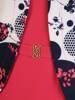 Wyszczuplająca sukienka w kwiaty z imitacją żakietu 29771