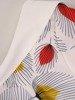 Wzorzysta sukienka z półgolfem, kreacja w modnych kolorach 25314
